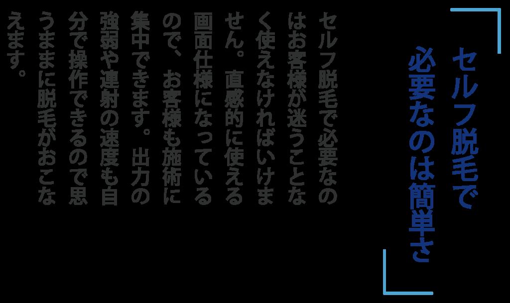 簡単さ 1024x609 - SELF ONEパンフレット
